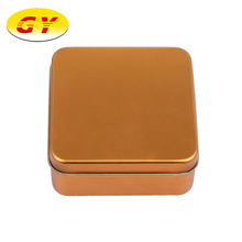 Best selling gold square tin box packaging for food