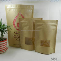 eco-friendly kraft paper food bags for french baguette with window