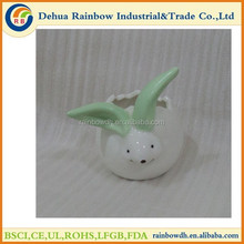 Cute rabbit shape flower pot for home decoration