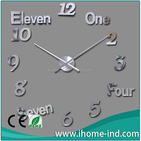Interior Decoration Large Wall Clock DIY 3D Wall Clocks Young Town Quartz Clock Movements