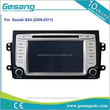 auto radio, android 6.0 car entertainment dvd player for Suzuki SX4 (2006-2011) with 4G SIM card and make calling directly