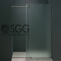 Top quality 8mm tempered glass for sliding shower doors
