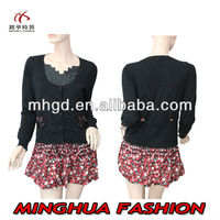 Spring Autumn Knit School Uniform Sweaters school girls without dress