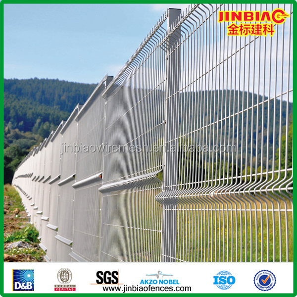 Anping Factory Triangle Bending Wire Mesh Railway Fence