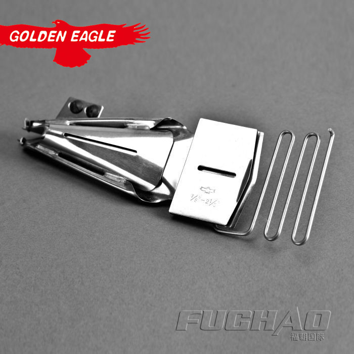 folder DOUBLE wrap hemmer Y109 Eagle brand hemmer Used for 2 or 3 needle cover stitch machine (Import) 64MM--(Export)22MM