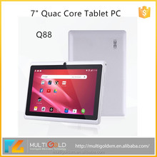 OEM 7 inch touchscreen 1024*600 ALLWinner A33 Quad Core 8GB Two Camera WIFI Android 4.4 Tablet PC