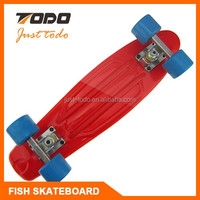 Promotional Plastic finger skateboard with keychain , finger scooter for sale