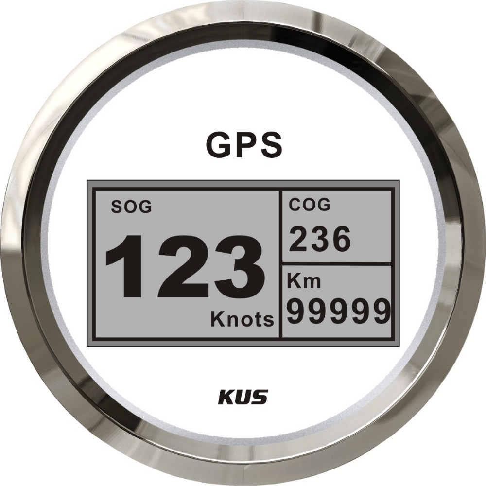 85mm digital GPS speedometer, speedo GPS speedometer for car truck universal motorcycle white faceplate 12V/24V
