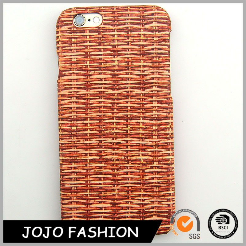 Colored Knitting Pattern Wooden Cell Phone Case