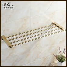 17920 chinese supplier bathroom accessories set gold plating towel shelf wall mounted accessory towel rack