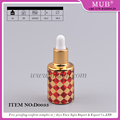 Beautiful design colored glass dropper bottles child proof cap essential oil bottle