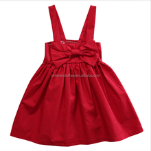 Best Selling Girls Clothing 3 Years Old Favorite Dresses Blood Red Overall Dress