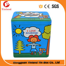 rectangular coin bank playing cards custom design tin box for chidren use
