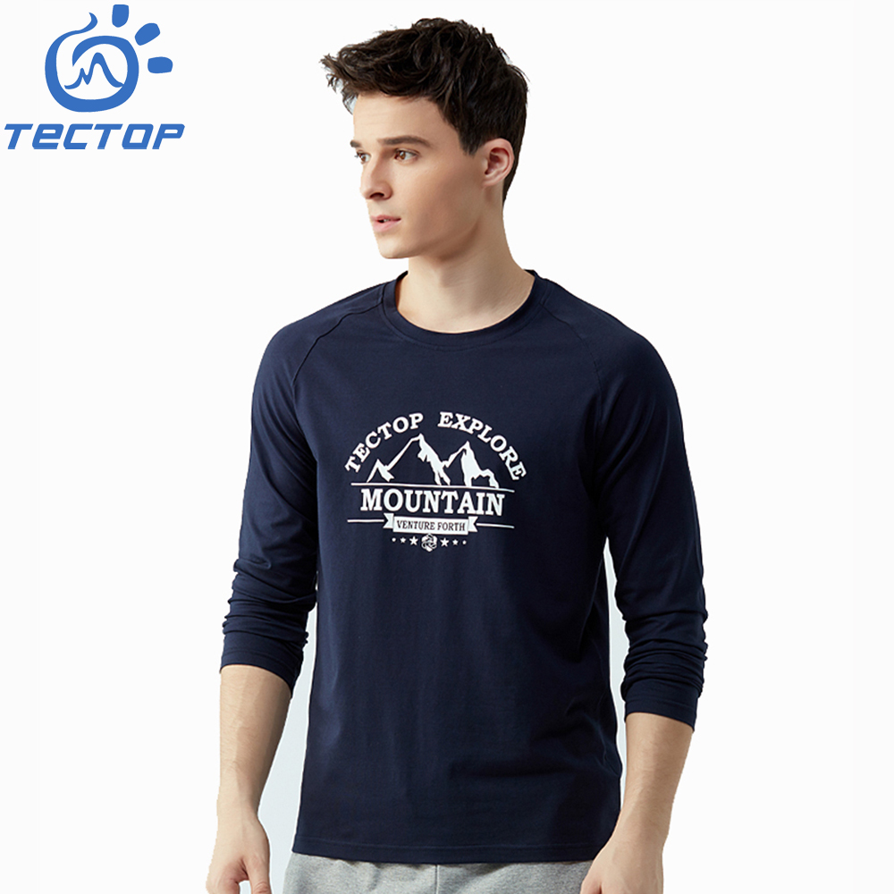 2018 Fashion Mens 220G Cotton Printed Long Sleeve Round Collar <strong>T</strong>-<strong>shirt</strong>