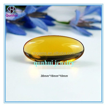 oval shaped golden yellow cubic zirconia stone