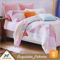 Soft handle Print fabric painting designs bed sheets