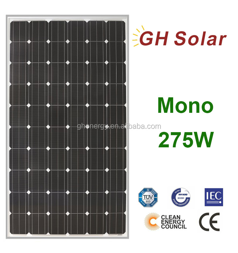 female jack citric acid mono Monostalline Solar Panel Mono 275W price Pakistan market