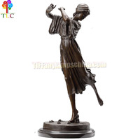 B-5 Dance girl statues bronze sculpture crafts wholesale bronze base china