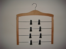Wholesale Custom Multi Purpose Wooden pant Hanger with metal clips