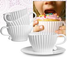 8PC White Afternoon Tea Cupcakes Set