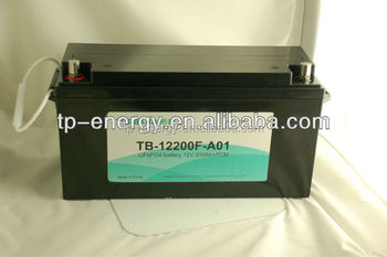 12V 200Ah lithium rechargeable battery pack