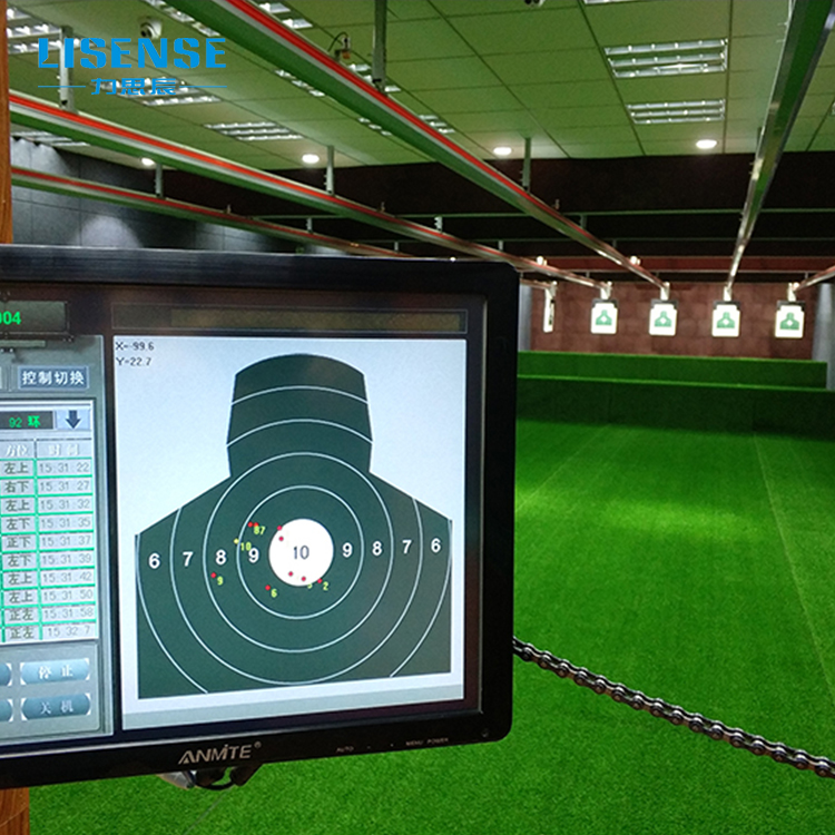 Shooting range equipment for electronic air gun rotating shooting target