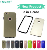 Full Cover Edge Hybrid Hard Plastic Soft Flexible TPU Bumper Mobile Phone Case For iPhone 6/s