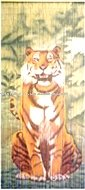 Bamboo beaded curtain, beaded door curtain 90 strings, tiger style VBMC-24