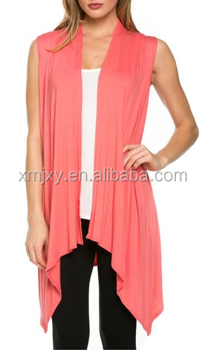 Cheap China Wholesale Clothing Women's Draped Open Front Jersey Knit Vest
