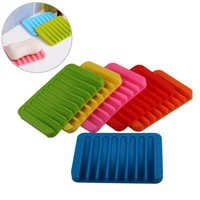 Hot Sale BPA Free Candy Color Bathroom Toliet Silicone Soap Case