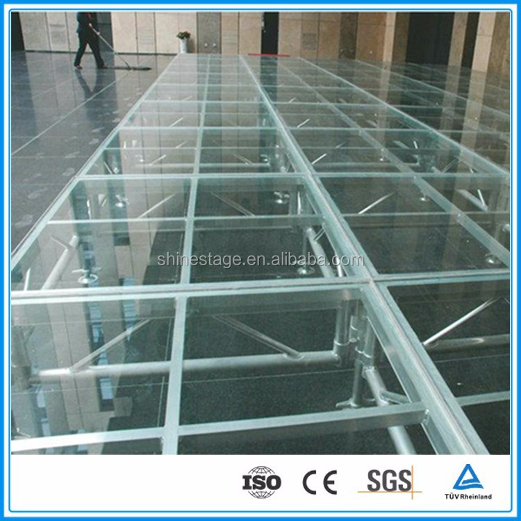 On sale 4ft*4ft assembling platform crystal wedding stage in plexiglas