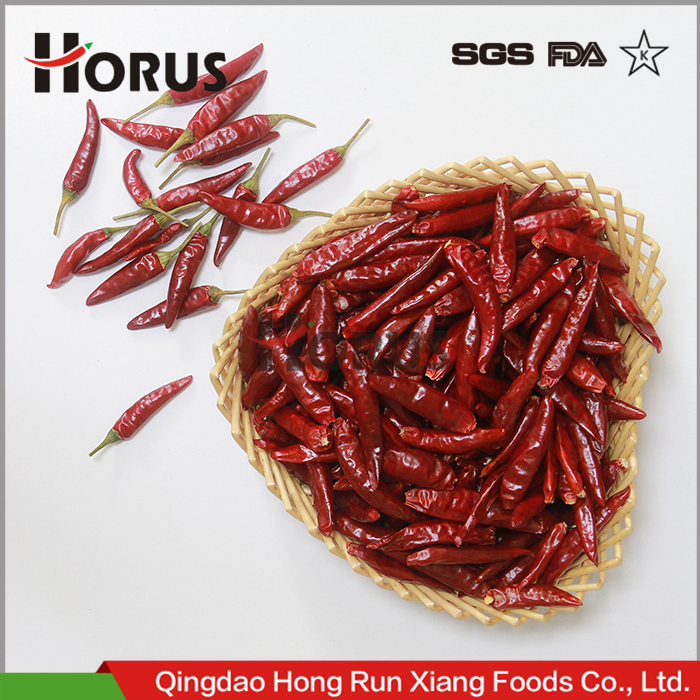 Chinese exported whole dried dry hot tianying tianjin red chaotian chilli