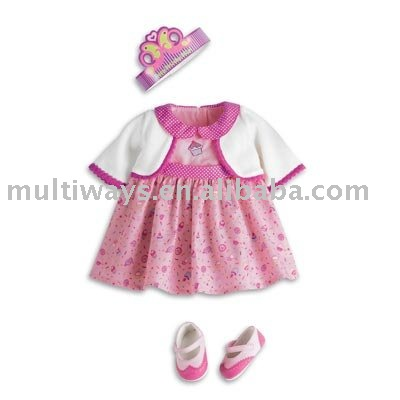OEM cute baby doll clothes for toys