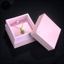 China Small Pink Paper Custom Jewelry Pendant Necklace Gift Box