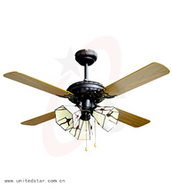 52 inch wholesale decorative ceiling fan in brown color