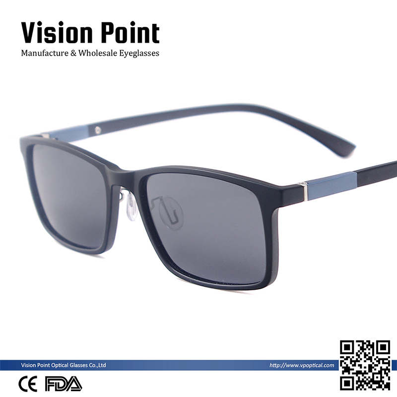 Wholesale Fashion Rectangular TR90 Polarized Eyewear