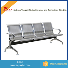Wholesale Stainless steel Public Area 4 seats waiting gang chair