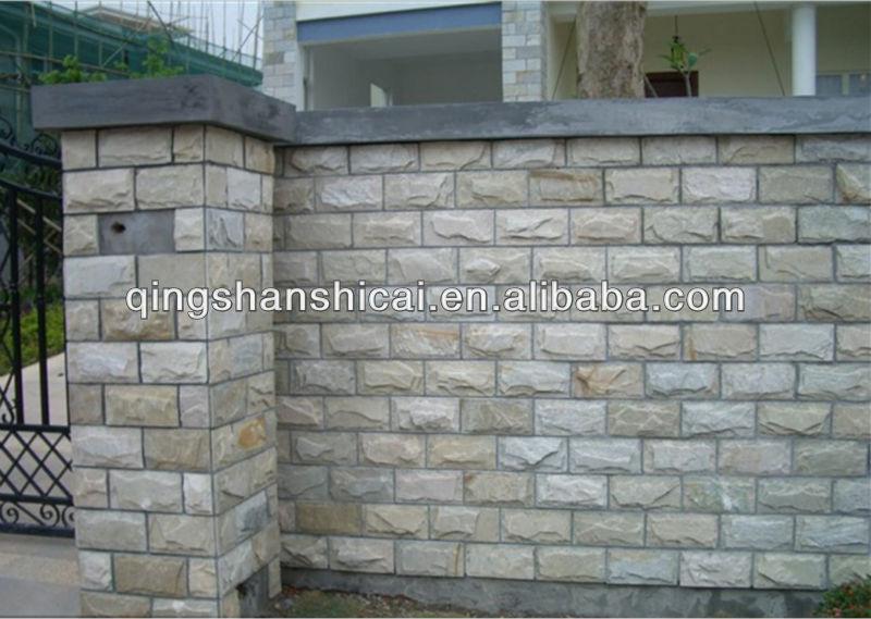 esterno muro di rivestimento di funghi piastrelle pietra