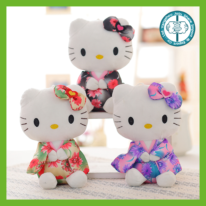 Factory custom made high quality lovely soft plush hello kitty