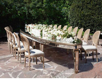 Oval Mirrored Rent Events Wedding Dining Table, View Rent mirrored ...