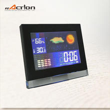 Large Color Screen Calendar LCD Clock Display Weather Station Clock