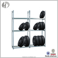 cold rolled steel adjustable tyre wall rack and shelf