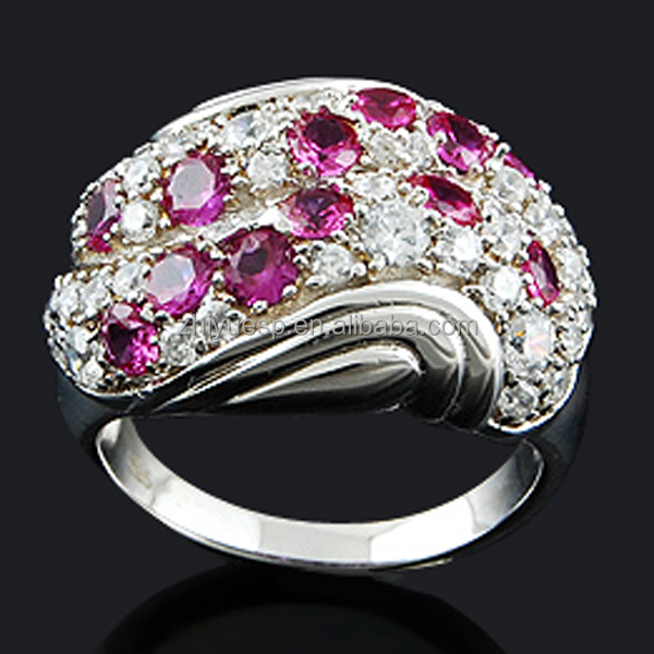 2015 wholesale high quanlity and low price fashion 925 sterling silver ruby jewelry ring