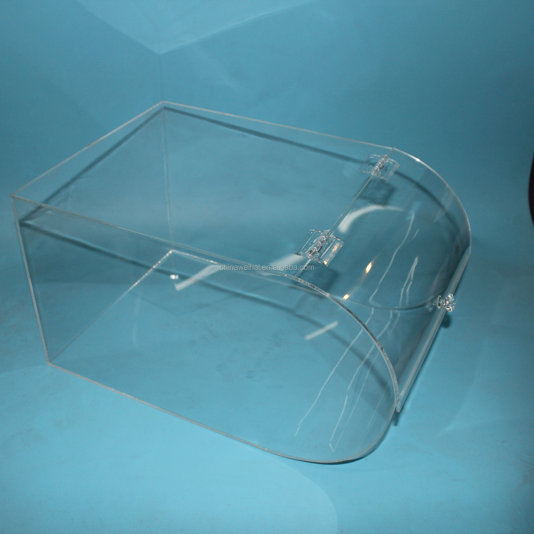 Round Face Clear Acrylic Candy Display Bins