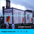Low cost and easy assembled container house for kit home