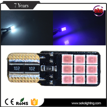 300lms auto canbus light T10 W5W wedge 12V 2835 Epistar LED car light bulb