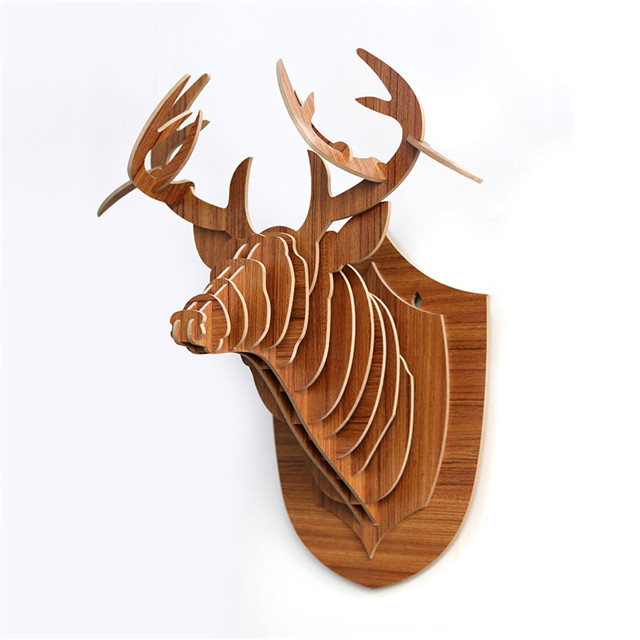 hand carved wooden animal heads wooden 3d animal head