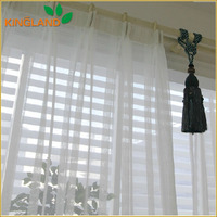 Top selling stripe design sheer curtain fabric roll sheer