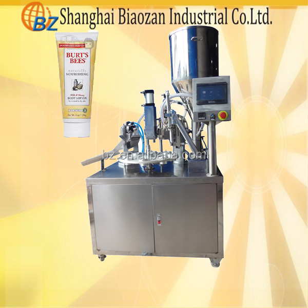 shanghai rotary small plastic tube filling sealing machine for honey, cosmetic cream, glue, ointment