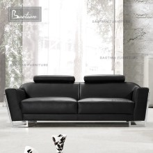 Stainless steel legs for beautiful leather sofa set lobby furniture designs